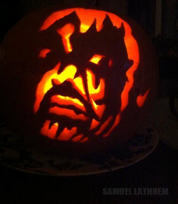 Heavy metal pumpkin carvings injection